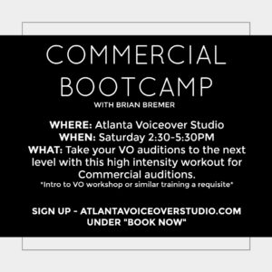 Commercial Bootcamp at Atlanta Voiceover Studio